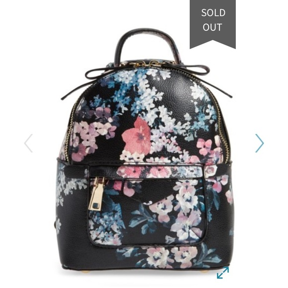 Floral Mini Backpack ISO Faux Leather Nordstrom BP Boutique